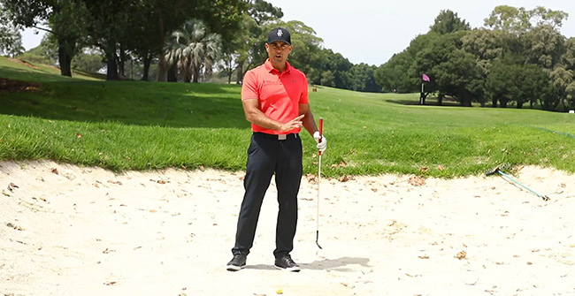 Using the bottom of the club in a bunker