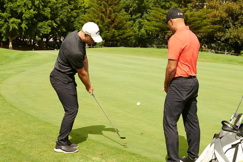 golf pro coaching wedge play